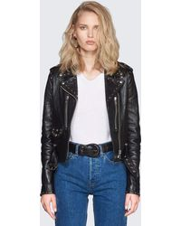 RE/DONE - Originals Studded Leather Moto Jacket - Lyst