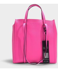8ae5e61ff067 Marc Jacobs - The Tag Tote 27 In Black Split Cow Leather With Polyurethane  Coating -