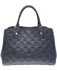 Louis Vuitton | Montaigne Mm Shoulderbag M41048 Monogram Empreinte Leather Black | Lyst