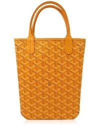 """Goyard - [pre-loved] """"sac Poitier"""" Yellow Pvc Coating Canvas[near Mint][authentic] - Lyst"""