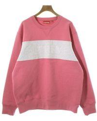 Supreme - Sweatshirt Pink L - Lyst