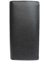 Louis Vuitton - Portefeiulle Brazza Long Wallet Epi Leather Black M60622 - Lyst