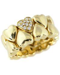 Cartier - 13 P Heart Diamond Ring Finger / 18 K Yellow Gold / 750 - 15.8 G / 7.5 / Yellow Gold / /h190116■226525 - Lyst