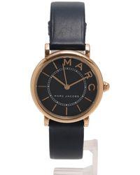 Marc Jacobs | Roxy Roxy Quartz Watch Ladies Ss Leather Belt Pink Gold Navy | Lyst
