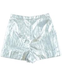 Chanel | Pants Silver 34 | Lyst