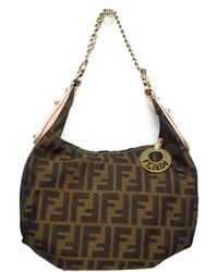 a9bf177525f4 Fendi - Auth Zucca Shoulder Hand Bag Calf Leather Canvas Used Vintage - Lyst
