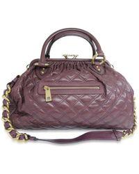 Marc Jacobs - Auth Stam Quilted Shoulder Handbag Purple Leather Used Vintage - Lyst