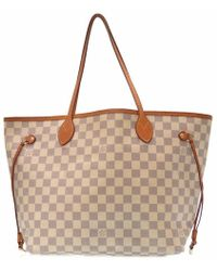 c2901352683b Louis Vuitton - N 51107 Azur Neverfull Mmtote Bag Azur Damierazurcanvas Lv  0156 - Lyst
