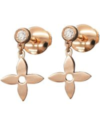 Louis Vuitton - Monogram Idylle Diamond Earrings 18k K18 Pg 750 90018979.. - Lyst