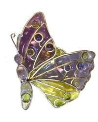 Louis Vuitton   Pin Serie Multicolor Glass Butterfly   Lyst