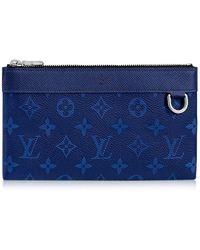cf63a71b1c0934 Louis Vuitton - Pouch Wallet ''pochette Discovery'' Pm Dring Cobalt Tiaga/