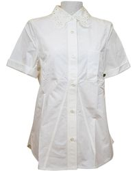 Louis Vuitton - White Women's Short Sleeve Design Color Blouse # 34 - Lyst