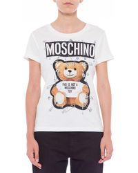 Moschino - Teddy Logo Print T Shirt - Lyst