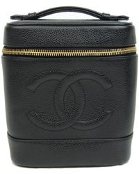 Chanel | Vertical Vanity Bag Caviar Leather Black | Lyst
