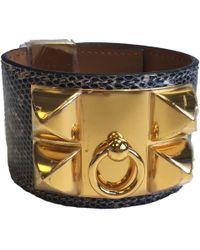 Hermès - Cdc Lizard Shadow And Golden Jewelry Cufflinks ; - Lyst