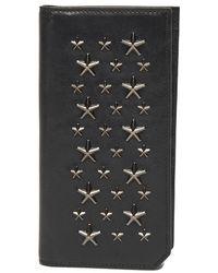 10713227b346 Lyst - Prada Saffiano Stripe Wallet Nero+fuoco+smeraldo in Black for Men