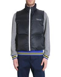 02cf31f375e0 Lyst - Moncler Men s 433619953029776 Blue Polyamide Vest in Blue for Men