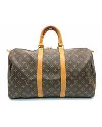 Louis Vuitton - Monogram Keepall 45 Tote Bag Brown M41428 9273 - Lyst