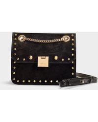 Lyst - Jimmy Choo Rebel Convertible Studded Shoulder Bag in Black cc6cb3b601