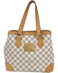 0335b0dfb0f5 Louis Vuitton - Hampstead Pm Tote Bag Damier Azur N51207 - Lyst