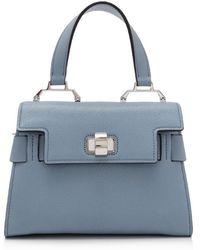c0aa4399fd35 Lyst - Miu Miu Pre-owned Leather Shopping Bag in Gray