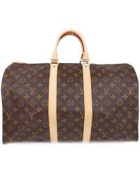 Louis Vuitton - Keepall 45 Boston Hand Bag Monogram Canvas M41428 - Lyst