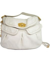36d69479ab1a Miu Miu - Authentic Shoulder Hand Bag White Leather Rr1688 Used Vintage -  Lyst