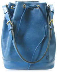 0b75b276c4de Louis Vuitton - Auth Noe Drawstring Shoulder Bag M44005 Epi Leather Toledo  Blue - Lyst