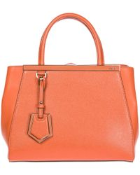 Fendi - Women's Leather Handbag Shopping Bag Purse Petite 2jours Elite 8bh253 D7e F089g Red - Lyst
