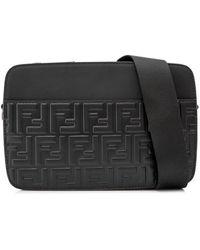 Fendi - St. Zucca Leather Messenger Bag - Lyst