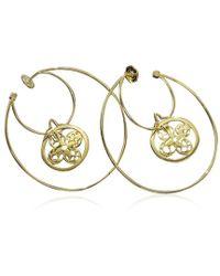 Louis Vuitton - Monogram Hoop Earrings 18k K18 Yg 750 90007325.. - Lyst