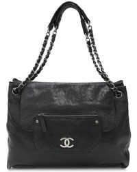 Chanel - Cc Chain Shoulder Bag Caviar Leather Black Used Vintage - Lyst 6c7cf3b8ce31b