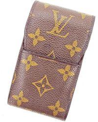 Louis Vuitton - Cigarette Case Monogram Unisexused L1768 - Lyst