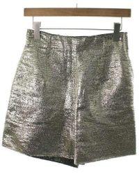 Lanvin - Pants Silver 36 - Lyst