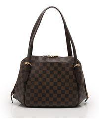0daf9ee7c6f4 Louis Vuitton - Belem Mm Shoulder Bag Damier Ebene Pvc Leather Tea - Lyst