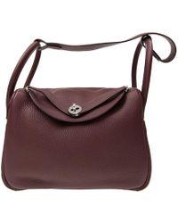 Hermès - Authentic New Handbag Lindy 30 57 Dark Red Taurillion Lindy 30 - Lyst