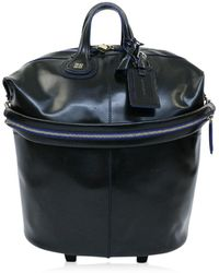 Givenchy - () Nightingale Trolley Carry Case Bag / Leather / 301121 / Black X Blue / - Lyst