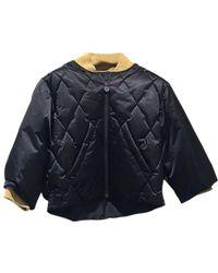 Chanel - Unused! 17a Short Length Puffer Jacket Black/gold P57120 V43068 - Lyst