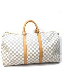 25b7e025ea45 Louis Vuitton - Damier Azur Keepall 50 Hand Bag Travel Bag Duffle Bag  N41430 - Lyst