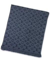 Louis Vuitton - Muffler Echarpe Monogram Classic Bleu Marine Wool100% M78525[brand New][authentic] - Lyst