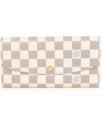 Louis Vuitton - Pre-owned Damier Azur Emilie Wallet - Lyst