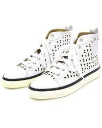 Hermès | High Cut Sneaker Jimmy Ladies Punching White # 36 | Lyst