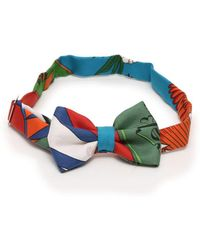 Hermès - Bowtie Bow Tie Silk Multi-color - Lyst
