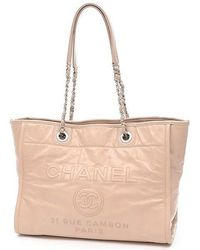 Chanel | Deauville Line Chaintote Bag Calfskin Pink A 93257 | Lyst