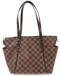 721ecc501125 Lyst - Louis Vuitton Totally Pm Shoulder Bag Damier Brown N41282 in ...