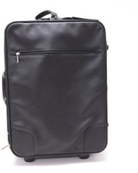 Loewe - Leather Wheeled Luggage Travel Bag Carry-on Bag Black - Lyst