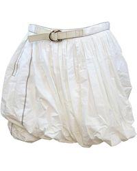 Louis Vuitton   White Ladies Skirt # 34   Lyst
