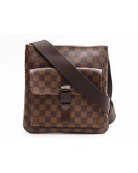 f793be782f04 Louis Vuitton - Auth Pochette Melville Shoulder Bag Damier Crossbody Brown  N51127 - Lyst