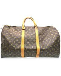 Louis Vuitton - Monogram Keepall 55 Travelling Tote Bag M41424 6098 - Lyst