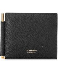 Tom Ford - Money Clip Bifold Wallet - Lyst
